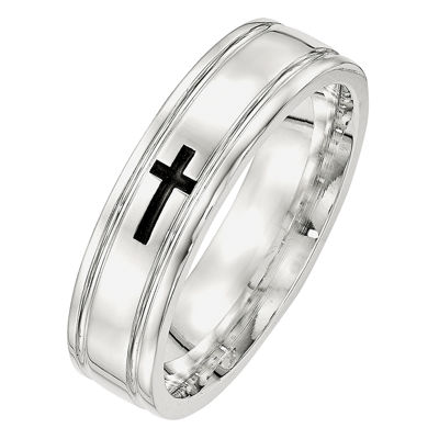 Personalized Mens 6mm Sterling Silver Band