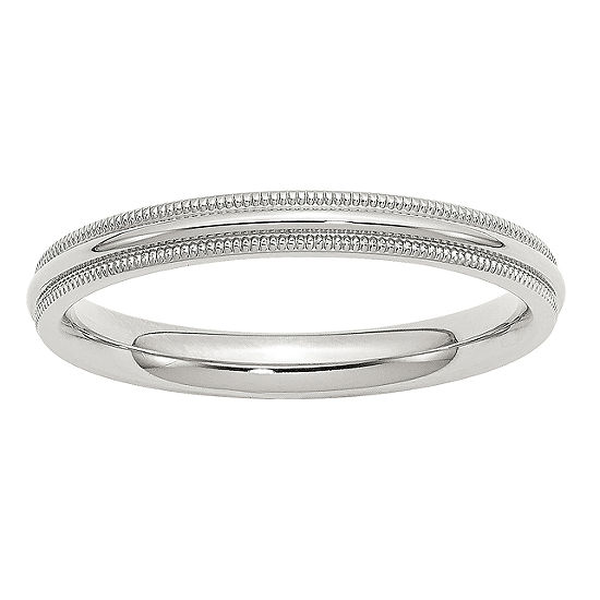 Womens 3MM Sterling Silver Wedding Band