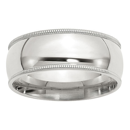 Personalized Mens Sterling Silver Wedding Band