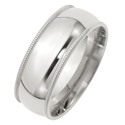 Personalized Mens 8MM Wedding Band