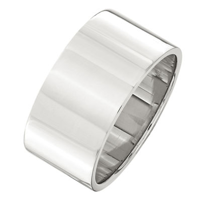Personalized Mens 10mm Sterling Silver Band