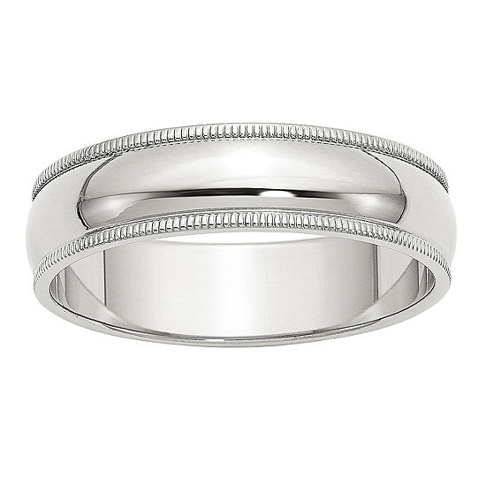 Personalized 6MM Sterling Silver Wedding Band