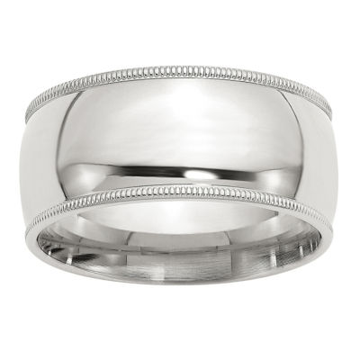 Personalized Mens 10MM Sterling Silver Wedding Band