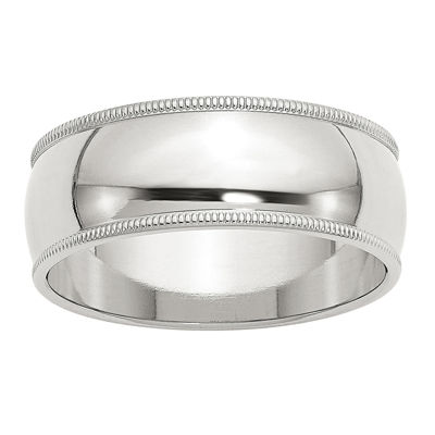 Personalized Mens 8mm Sterling Silver Band