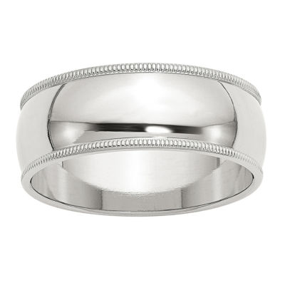 Personalized Womens 8MM Wedding Band