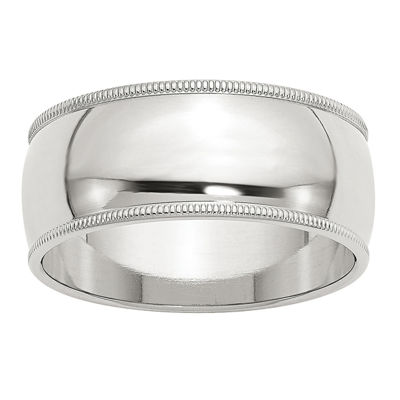 Personalized Mens 9M Sterling Silver Band