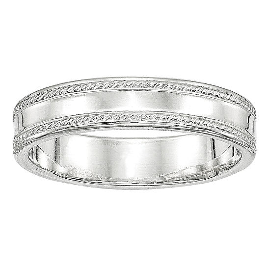 Personalized 5MM Sterling Silver Wedding Band