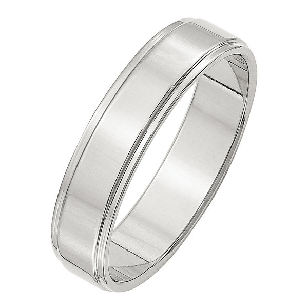Personalized Womens Sterling Silver Wedding Band