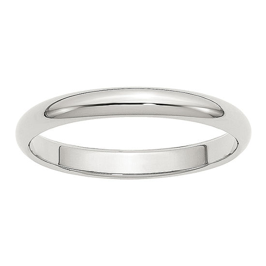 Mens 3MM Sterling Silver Wedding Band