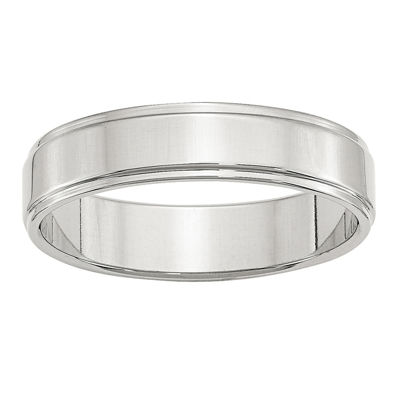 Mens 5mm Sterling Silver Band