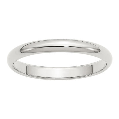 Womens 3mm Sterling Silver Band