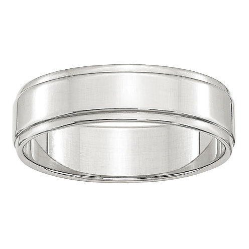 Mens Sterling Silver Wedding Band