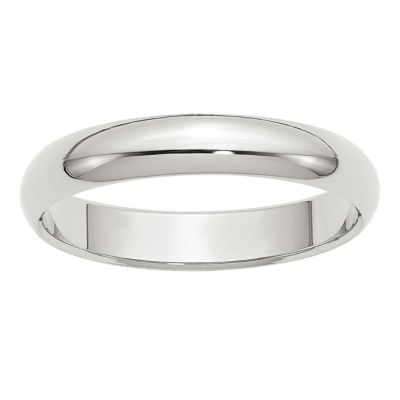 Personalized Womens 4MM Sterling Silver Wedding Band
