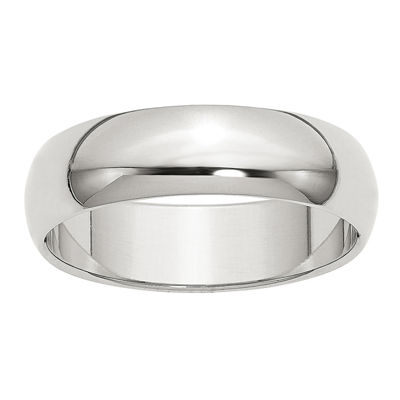 Personalized Womens 6mm Sterling Silver Band