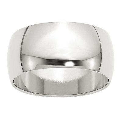 Mens 10mm Sterling Silver Band