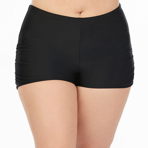 Boutique + Boyshort Swimsuit Bottom-Plus