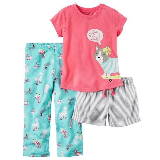 Carter s 3-pc. Kids Pajama Set Girls - JCPenney 74573550a