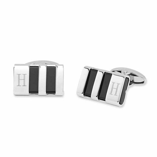 Personalized Stainless Steel & Enamel Cuff Links