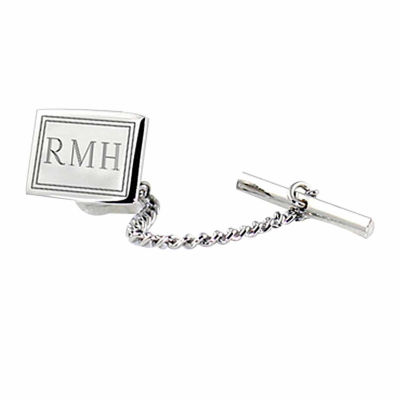 Engravable Sterling Silver Tie Tack