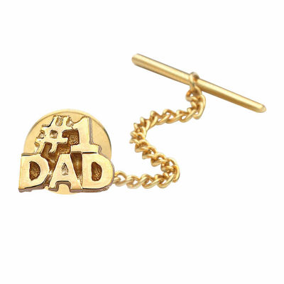 #1 Dad Gold-Plated Tie Tack
