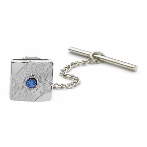 Crystal-Accent Tie Tack