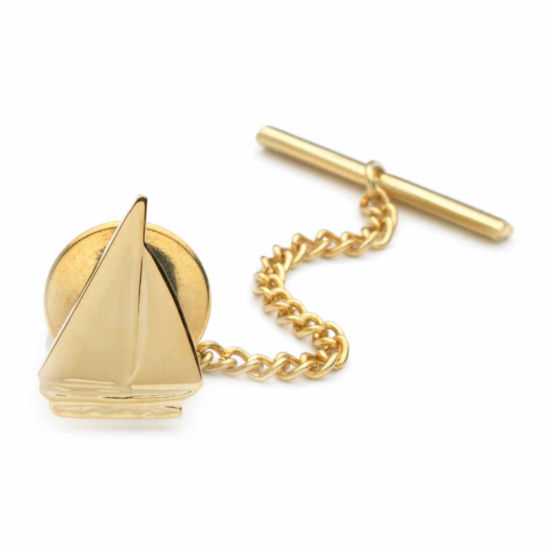 Sailboat Gold-Plated Tie Tack