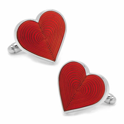 Red Heart Cuff Links