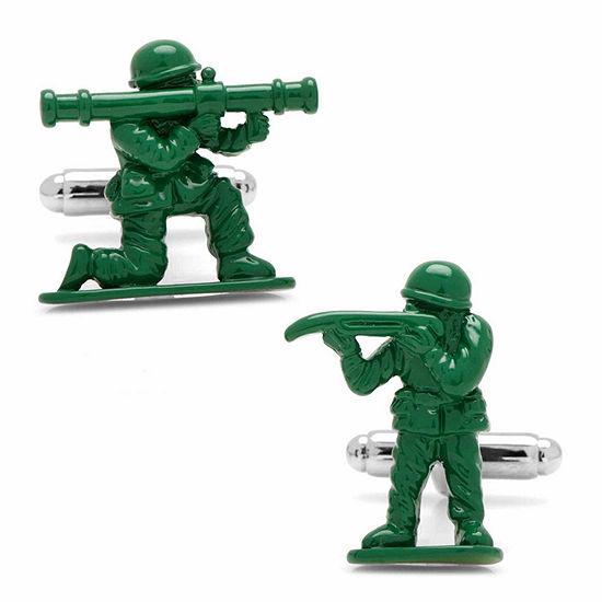 Green Army Men Cuff Links