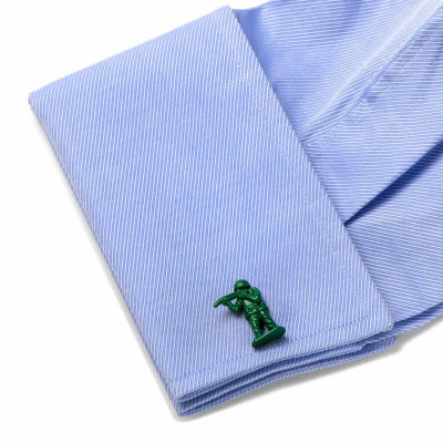 Green Army Men Cuff Links
