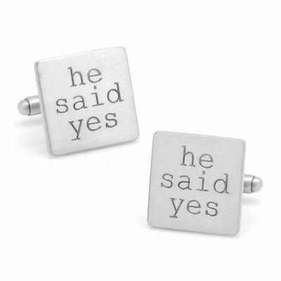 He Said Yes Cuff Links
