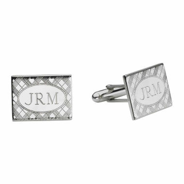 Personalized Plaid Pattern Cuff Links