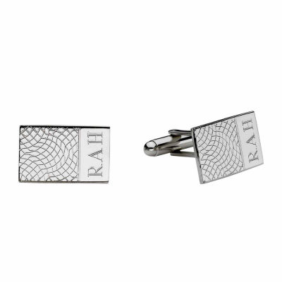 Personalized Snakeskin Pattern Cuff Links