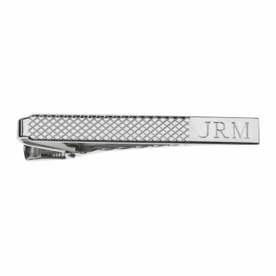 Personalized Grid Pattern Tie Bar