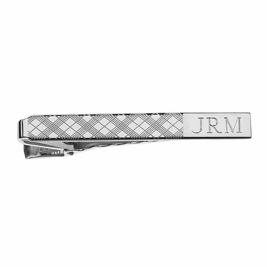 Personalized Plaid Pattern Tie Bar