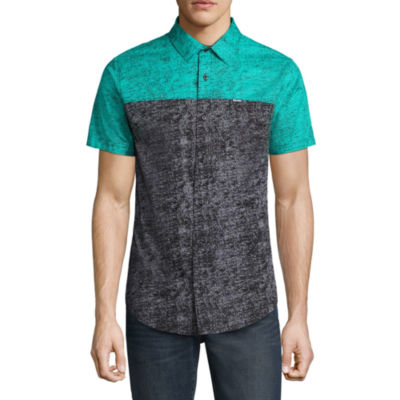 Zoo York Short Sleeve Pattern Button-Front Shirt