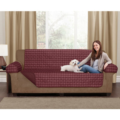 Maytex Smart Cover® Buffalo Check Reversible Microfiber 3 Piece Sofa Furniture Pet Cover Protector
