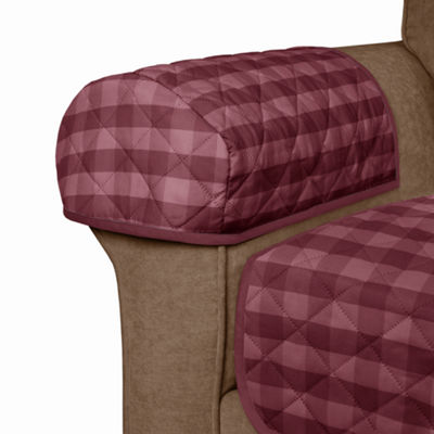 Maytex Smart Cover® Buffalo Check Reversible Microfiber 3 Piece Loveseat Furniture Pet Cover Protector