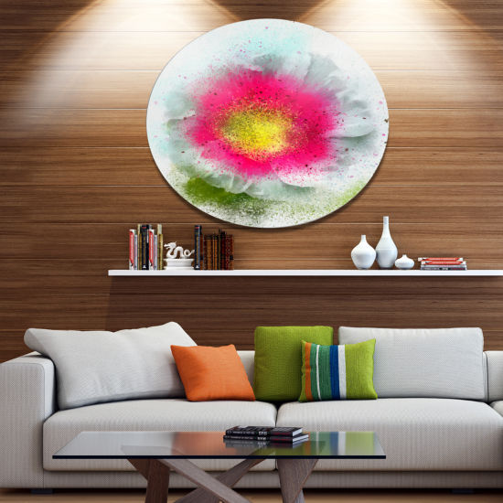 Designart Large Red Poppy Flower on White Oversized Floral Aluminium Wall Art