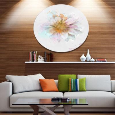 Designart Beautiful Flower with Yellow Stigma Oversized Floral Aluminium Wall Art