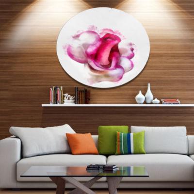 Designart Floral Metal Wall Art