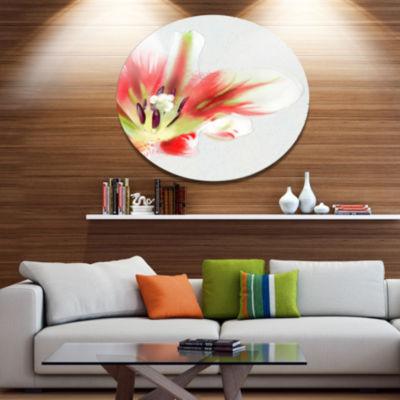 Designart Large Watercolor Red Tulip Flower LargeFloral Metal Artwork