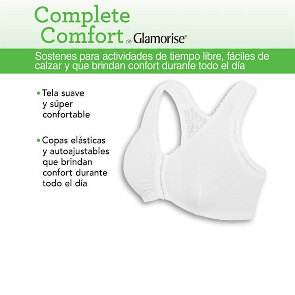 Glamorise Complete Comfort Full Figure Wireless Unlined Sleep Bra-1805