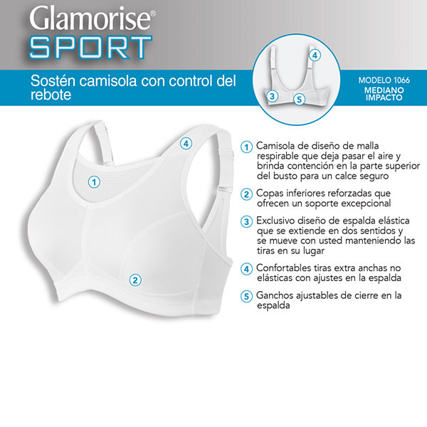 Glamorise No-Bounce Cami Wireless Unlined Sports Bra-1066