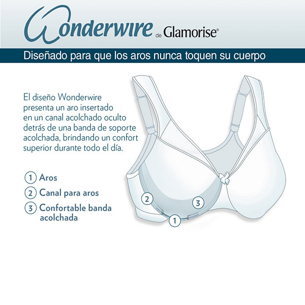 Glamorise Elegance Wonderwire® Front-Close Underwire Unlined Full Coverage Bra-1245
