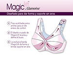 Glamorise Magic Lift® Posture Back Support Wireless Unlined Full Coverage Bra-1265
