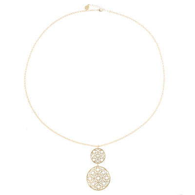 Liz Claiborne Womens Round Pendant Necklace