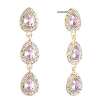 Monet Jewelry Pink Drop Earrings