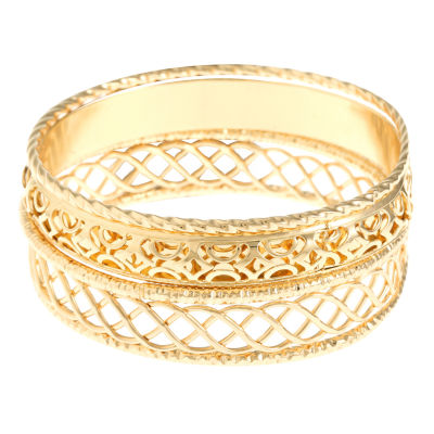 Liz Claiborne Gold Tone Bangle Bracelet