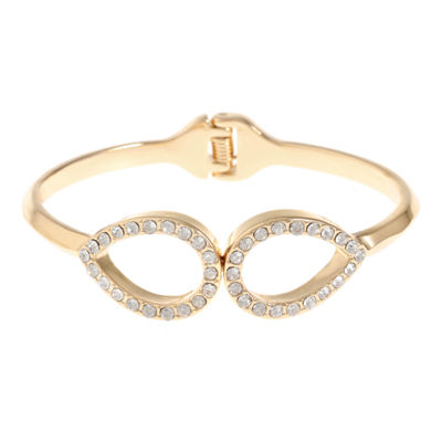 Liz Claiborne Clear Gold Tone Bangle Bracelet