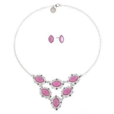 Liz Claiborne Womens 1 Pair Pink Jewelry Set